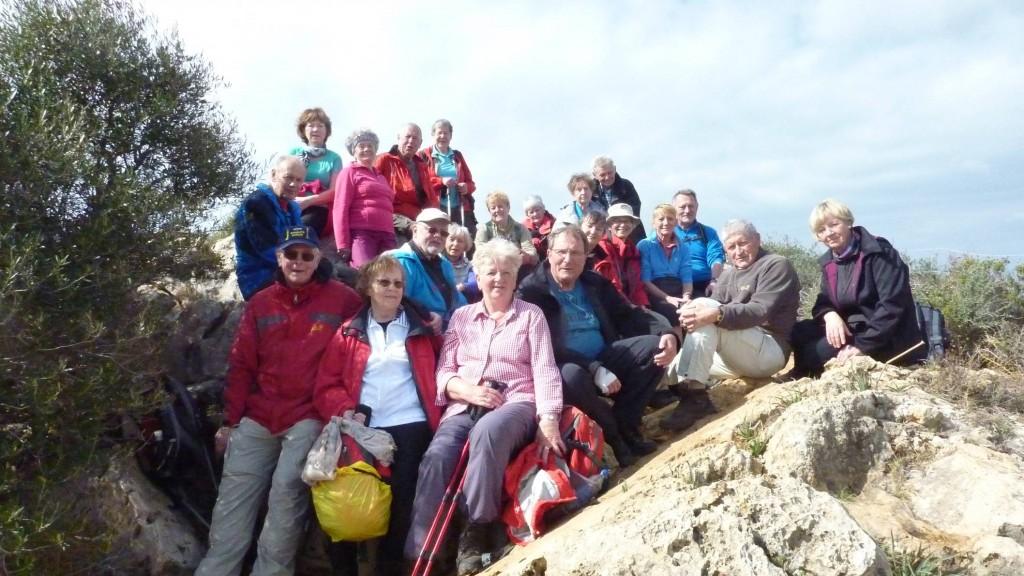 Unsere Wandergruppe am Cap Andritxol